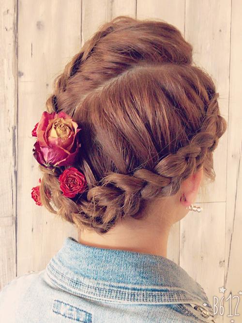 特徴的なヘアスタイル